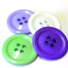 Large 50mm Clown Buttons
